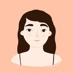 Illustrated portrait made by illustrator Nur Ventura. girl illustration. cute illustration. #illustration #cuteillustration #nurventura #girlillustration #procreate #portrait Cute Illustration, Illustrator, Disney Characters, Fictional Characters, Portraits, Disney Princess, Movie Posters, Digital Illustration, Faces