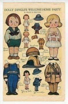 75.2969: Dolly Dingle's Welcome-Home Party | paper doll | Paper Dolls | Dolls | Online Collections | The Strong