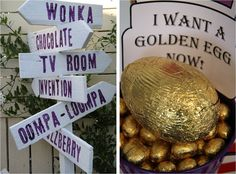 Wonka Golden Ticket PArty My son Dylan is a huge fan of both the old and new Wonka Movies, so for his 11 th Birthday he requested a. Charlie Chocolate Factory, Wonka Chocolate Factory, Chocolates, Candy Christmas Decorations, Christmas Candy, Homecoming Decorations, Hallway Decorations, Willy Wonka Halloween, Halloween Party