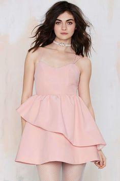 Keepsake Last Stand Ruffle Dress
