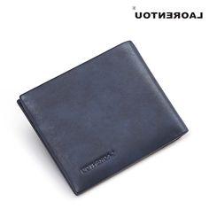 34.84$  Buy now - https://alitems.com/g/1e8d114494b01f4c715516525dc3e8/?i=5&ulp=https%3A%2F%2Fwww.aliexpress.com%2Fitem%2FLaorentou-fashion-blue-wallet-men-s-wallet-genuine-leather-wallet-in-top-quality-business-wallet%2F32755551973.html - Laorentou Genuine Cow Leather Blue Wallet Men's Business Casual Short Mens Wallet Leather Genuine Slim Wallets Purse Men N5