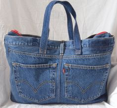 Items similar to Repurposed Denim Bag with Multiple Pockets on Etsy Items similar to Repurposed Denim Bag with Multiple Pockets on Etsy Denim Bags From Jeans, Denim Tote Bags, Denim Purse, Diy Tote Bag, Denim Shorts, Jean Purses, Quilted Tote Bags, Denim Ideas, Denim Crafts