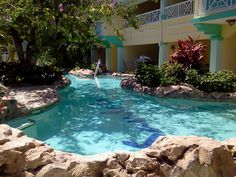 Swim out pool from your suite at Sandals Royal Caribbean, Montego Bay, Jamaica.