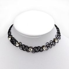 New collares Vintage Stretch Tattoo Choker Necklace Punk Retro Gothic Elastic Pendants Necklaces for women lady christmas gift