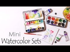 how to: miniature watercolor sets