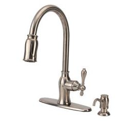 Fontaine Catherine Brushed Nickel Pull-Down Kitchen Faucet | Overstock.com Shopping - Great Deals on Fontaine Kitchen Faucets