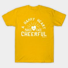 A happy heart makes the face cheerful. Let optimism and happiness shine! Design by Moxie and Wit.