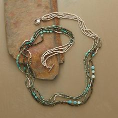 My favorite place to go for inspiration - love the mix of turquoise/quartz/silver and multiple strands : )