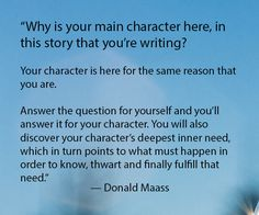 http://jeannieruesch.com/2017/09/getting-to-know-your-main-character-a-writers-prompt-by-donald-maass/
