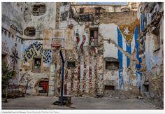 New York Times photo[ Tomas Munita] of a basketball court in Havana Cuba.