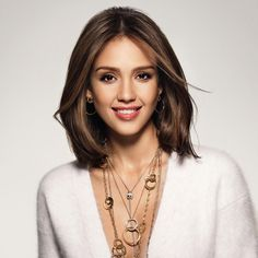 Medium Length Hair with Side Long Bangs - Popular Long Hairstyle Idea