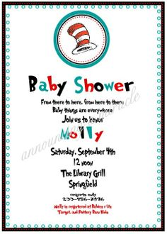 dr seuss baby shower invitations - Google Search