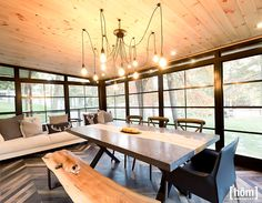 GALERIE DE PHOTOS   Habitaflex - Chalet Hôm Cottage Plan, Lake Cottage, Expo Habitat, Pole Barn Homes, Model Homes, Decoration, Home And Living, Habitats, New Homes