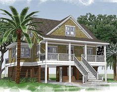 Adorable Beach Cottage - 15047NC | Beach, Low Country, Southern, Vacation, Photo Gallery, 1st Floor Master Suite, CAD Available, Den-Office-Library-Study, PDF, Narrow Lot | Architectural Designs