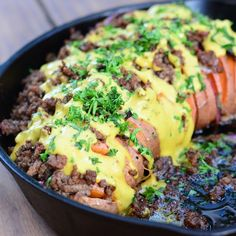 Loaded Hasselback Sweet Potato by The Paleo Foodie Kitchen. #paleo