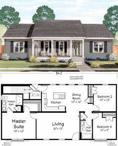 Saddle roof design home building plans in 2019 д Sims House Plans, Ranch House Plans, New House Plans, Dream House Plans, Small House Plans, House Floor Plans, My Dream Home, Small Floor Plans, Building Plans