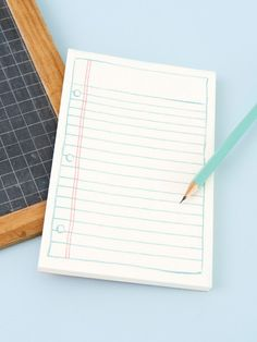 Notepad with lined design by Rifle Paper Co. 85 pages. A perfect gift! Notepad is 8.5 by 14.5cm.