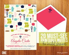 Printable: Bridal Shower invites! need this with so many cousins getting married!