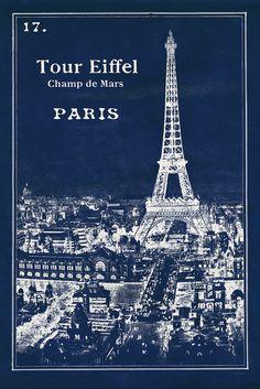 Masterpiece Art - Blueprint Eiffel Tower, $22.00 (http://www.masterpieceart.com.au/blueprint-eiffel-tower/)