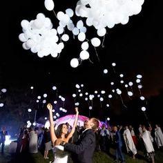 Brooke S Custom Order White Led Balloons That Glow Wedding Send Off Light Up The Sky