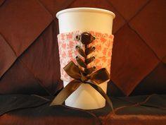 OMG!  I want! Coffee Corset  (a cozy fabric cuff) -  $10.00, via Etsy.