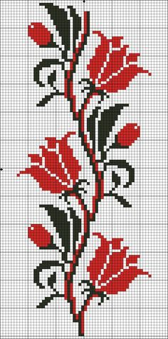This Pin was discovered by pel Cross Stitch Rose, Cross Stitch Borders, Cross Stitch Flowers, Cross Stitch Charts, Cross Stitch Designs, Cross Stitching, Cross Stitch Embroidery, Hand Embroidery, Cross Stitch Patterns