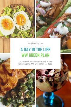 health plan A Day in the Life of the WW Green Plan Sassy Cooking Weight Watcher Dinners, Plan Weight Watchers, Weight Watchers Smart Points, Clean Eating Meal Plan, Healthy Eating, Ww Recipes, Healthy Recipes, Recipes Dinner, Lunch Recipes