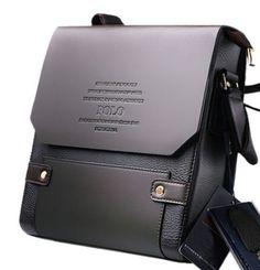Men's Faux Leather Shoulder Messenger Bag Briefcase Satchel ACM3