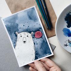Today is International Polar Bear Day☁️ . #samoshkina_art #illustration #illustrations #dailyart #art #artist #art_we_inspire #art_spotlight #art_public #inspire #instaart #wearevsco #vscoart #vscocam #watercolors #watercolorart #aquarelle #cute #toppaint #topdraw #topcreator #globalart #topart #painteveryday #detail #soulart #artcitchen #eatsleepdraw #artbook #illustrationart