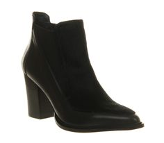 Office Mercy Chelsea Black Leather Pony Effect - Ankle Boots