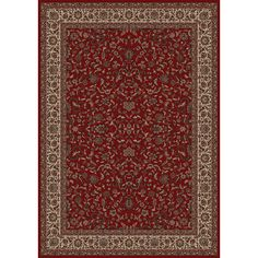 The Conestoga Trading Co. Persian Classics Oriental Kashan Red Area Rug Rug Size: