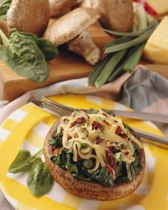 Spinach and Fontina Stuffed Portobellos