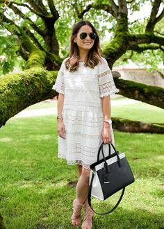 KAS White Lace Dress