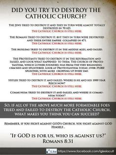 Catholicism ... don't forget even one of the original 12 was a traitor ... On this rock I shall build my church ... and even the gates of hell shall not prevail ,,,