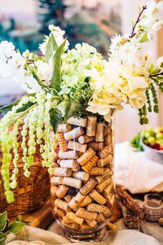 mariage vignoble recuperation mariage dco liege bouchons mariage vase rempli coeur dalene deco wedding - Salle Mariage Vallet