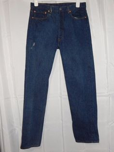 Vtg Levi 501 XX Jeans 36x36 Made in USA Dark Denim Color #Levis #ClassicStraightLeg