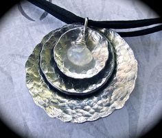 3 Hammered Concave  Discs in Pure Food Safe by DesignsByLizzBarnes, $38.00