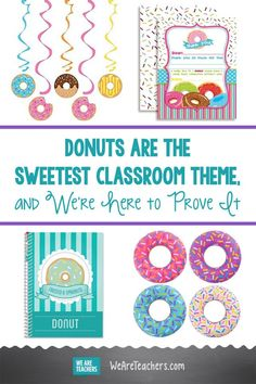Donuts Are the Sweetest Classroom Theme, and We're Here to Prove It. These donut school supplies get an A+ in our grade book! The cutest supplies for your donut-themed classroom or lesson plan.
