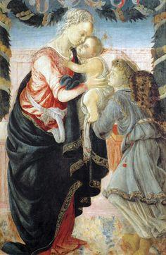 Sandro Botticelli - Renaissance - La Vierge à l'Enfant avec un Ange - 1465