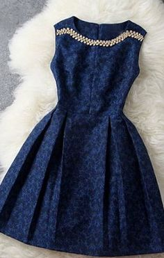 Pretty Navy Dress