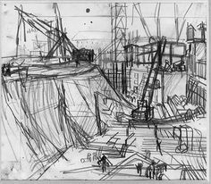 Frank Auerbach: London Building Sites 1952 - 62 at the . Frank Auerbach: London Building Sites 1952 – 62 at the … Bad Painting, Painting & Drawing, Frank Auerbach, Urban Landscape, Landscape Art, Landscape Paintings, Landscapes, Urban Setting, A Level Art