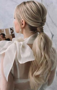 Wedding Ponytail Hairstyles, Ponytail Updo, Elegant Ponytail, Bride Hairstyles, Cute Hairstyles, Homecoming Hairstyles, Low Pony Hairstyles, Bridesmaid Hairstyles, School Hairstyles