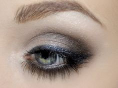 pretty eye makeup for a little black cocktail dress