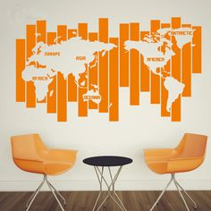 Map World  Wall Decal