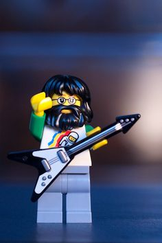 LEGO Jerry Garcia minifigure by jacobC, via Flickr