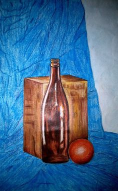 Still life pencil colours work