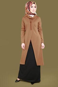 İnci Kolyeli Combined Combo Taba – Belgin – Join the world of pin Abaya Fashion, Muslim Fashion, Modest Fashion, Fashion Dresses, Abaya Mode, Hijab Stile, Fancy Kurti, Modele Hijab, Long Evening Gowns