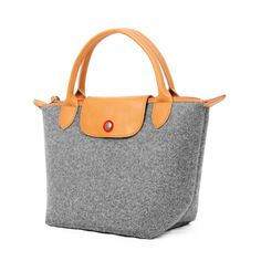 Leather Handbag Wool Felt Tote Storage Bag Small Handbag Wool Felt Travelling Bag Leather Felt Bag Top Handle Bag--Tophome