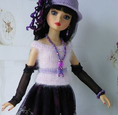 By lisella64...Doll Outfit Tonner Ellowyne,Lizette,Amber-Jewelry Magnetic Clasp
