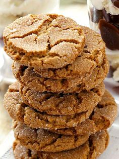 Gingersnap recipe...We actually made these!! Sooo yummy!